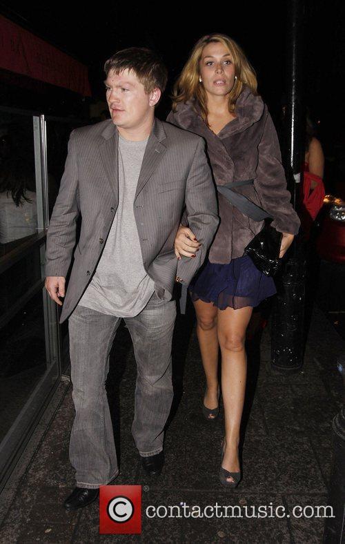 Ricky Hatton and his girlfriend Jennifer Dooley leaving...