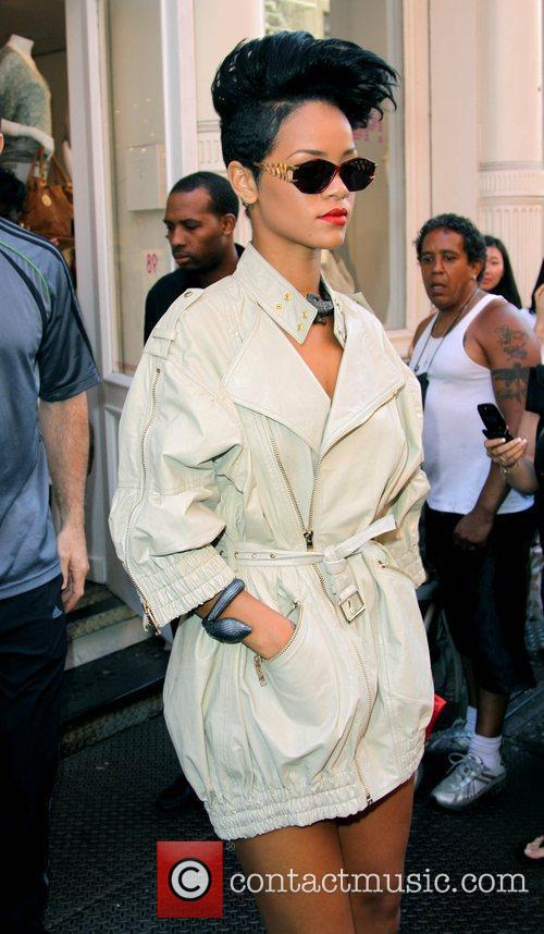 Rihanna shopping in SoHo at the Intermix boutique...