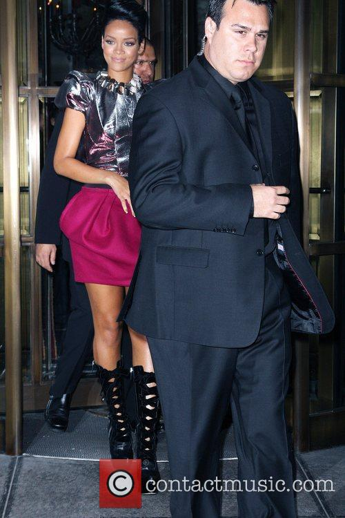 Rihanna leaving her hotel en route to Cipriani...