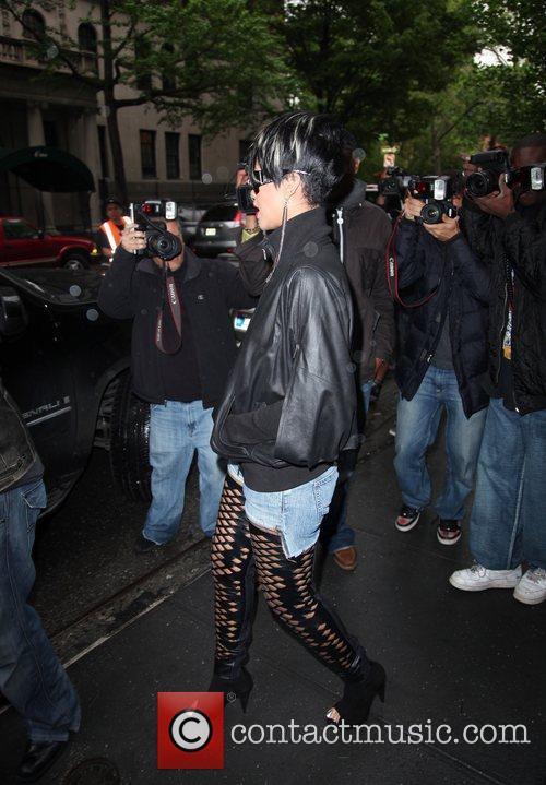 Singer Rihanna visits bar 89 in New York...