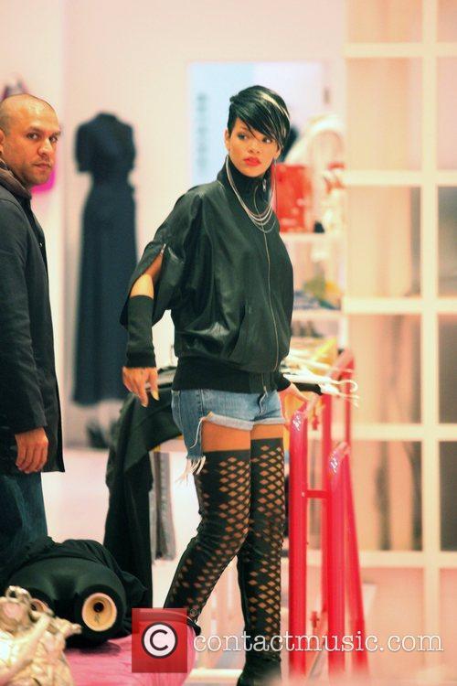 Rihanna shopping at Kirina Zabete in Soho wearing...
