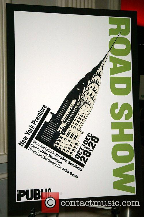 Opening night of the new musical 'Road Show'...