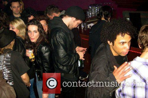 robert pattinson at richard's on richards nightclub at the gibson guitars 2009 junos pre party. pattinson spent the entire night texting 5273290