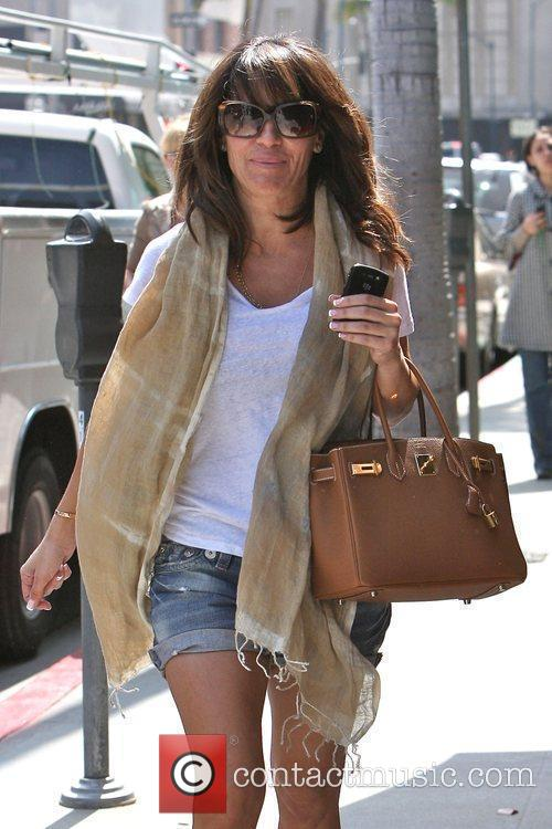 Robin Antin walking in Beverly Hills after having...