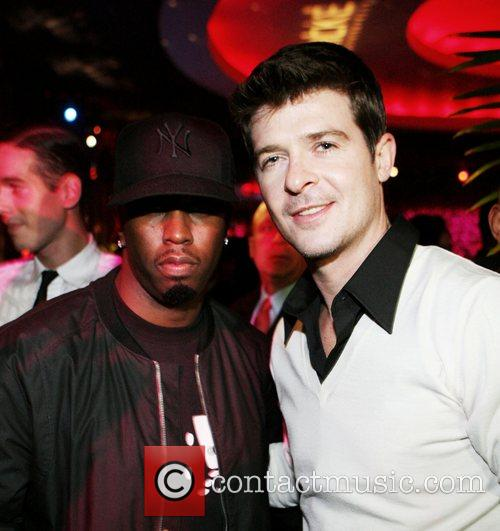 Sean 'P.Diddy' Combs and Robin Thicke Robin Thicke's...