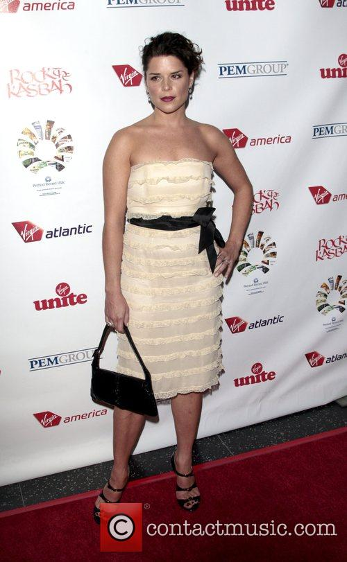 Neve Campbell attends the Virgin Unite 'Rock The...