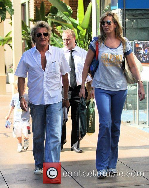 Rod Stewart and Penny Lancaster seen out shopping...