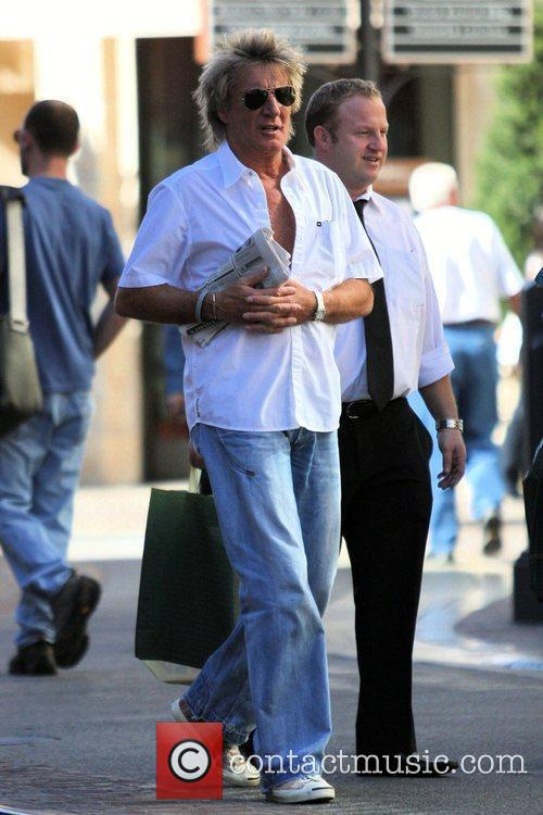 Rod Stewart seen out shopping with his wife....