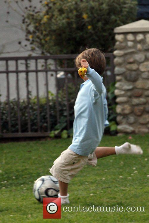 Seen kicking a football and having fun at...