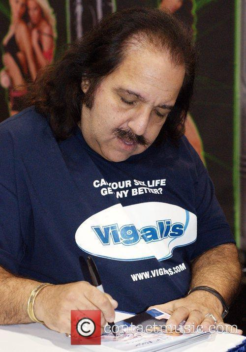 Ron Jeremy signs autographs at the Paradise Visuals...