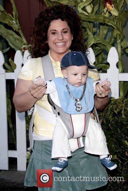 Marissa Jaret Winokur and son Zev  Camp...