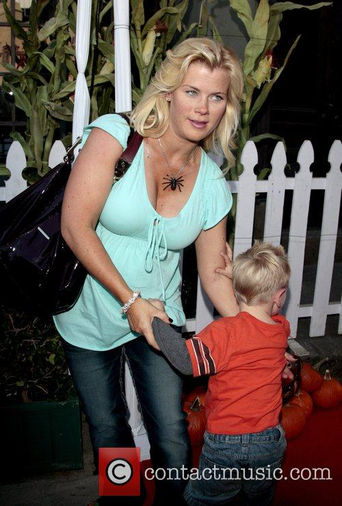 Pregnant Alison Sweeney and son Ben Camp Ronald...