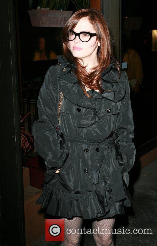 Rose McGowan leaves Madeo's restaurant Los Angeles, California