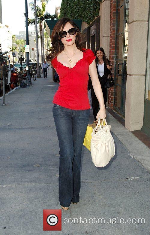 Rose McGowan  spotted shopping for sunglasses in...