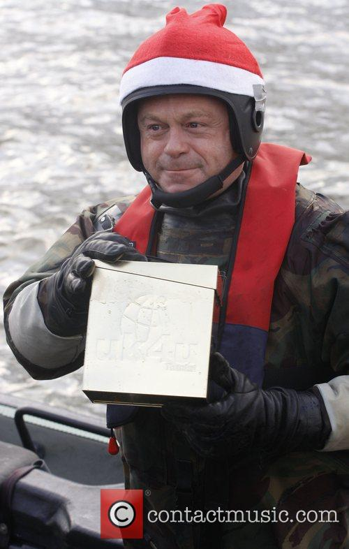 Ross Kemp on board a Rigid Inflatable Boat...