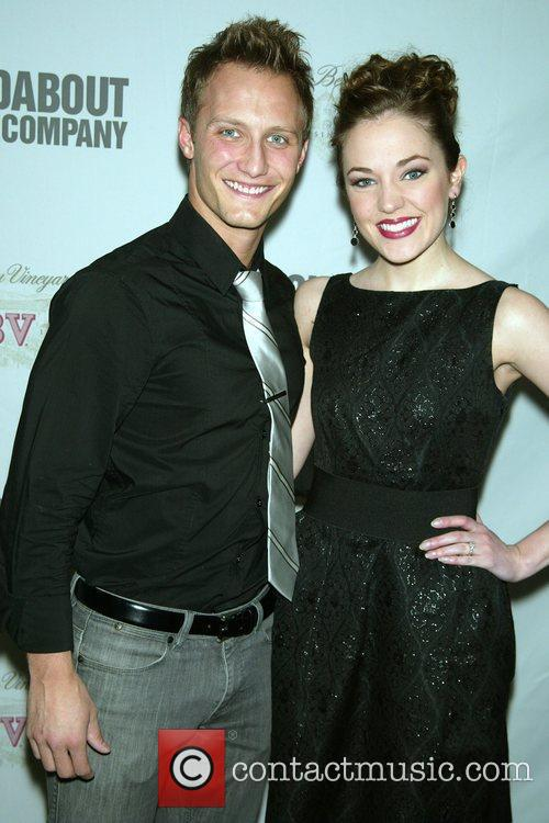 Laura Osnes and her husband Nathan Johnson...
