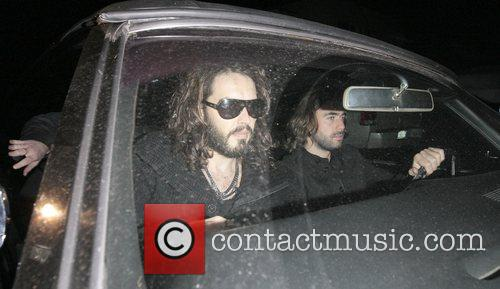Russell Brand  leaving 'Largo At The Coronet'...