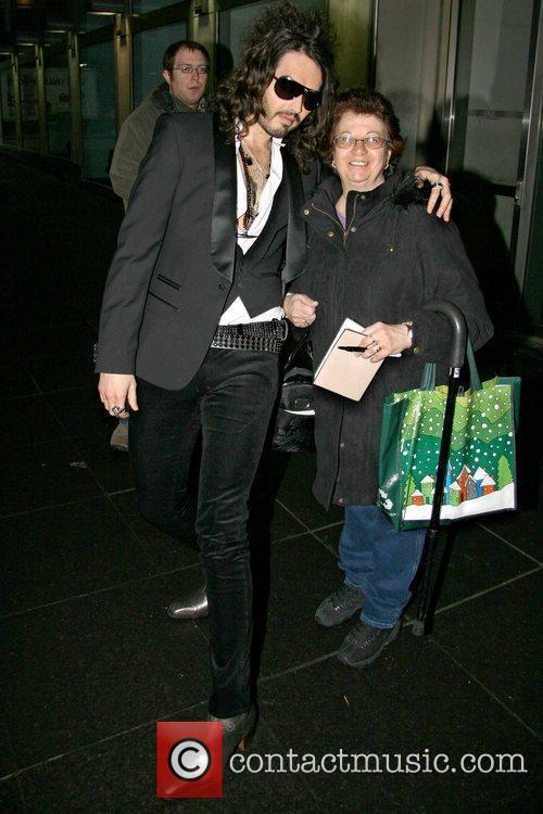 Russell Brand and a Fan outside Fox studios...