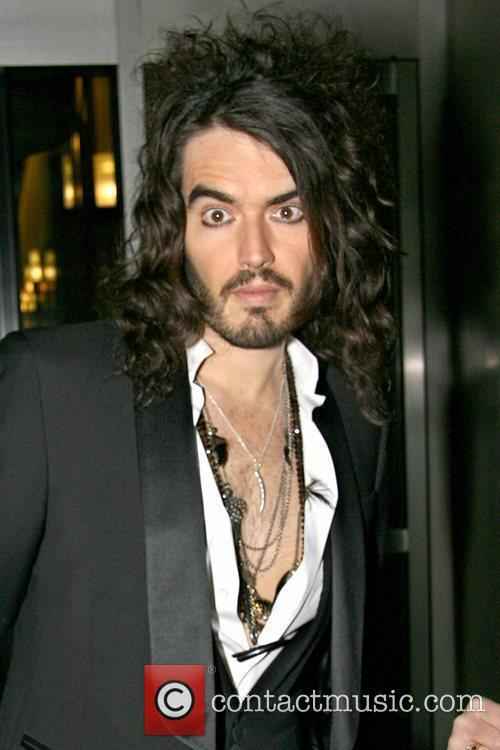 Russell Brand outside Fox studios after appearing on...