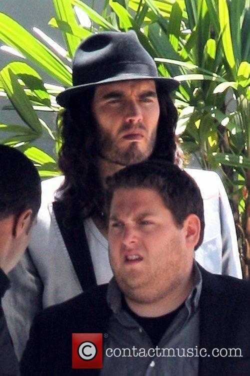 Russell Brand  seen filming on location for...