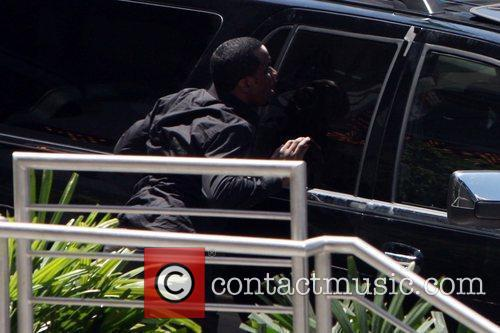 Sean Combs aka P. Diddy  seen filming...