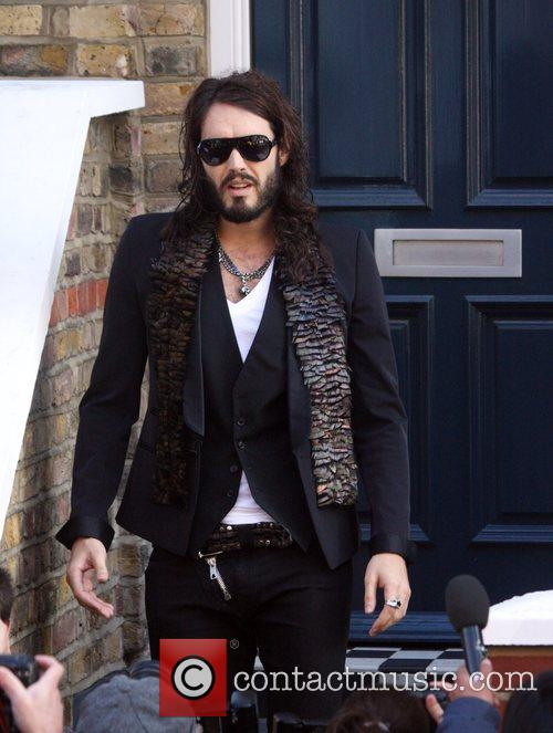 Comedian Russell Brand was not in the mood...