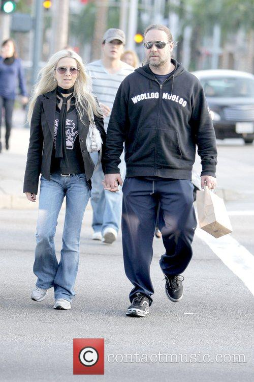 Danielle Spencer and Russell Crowe  out and...