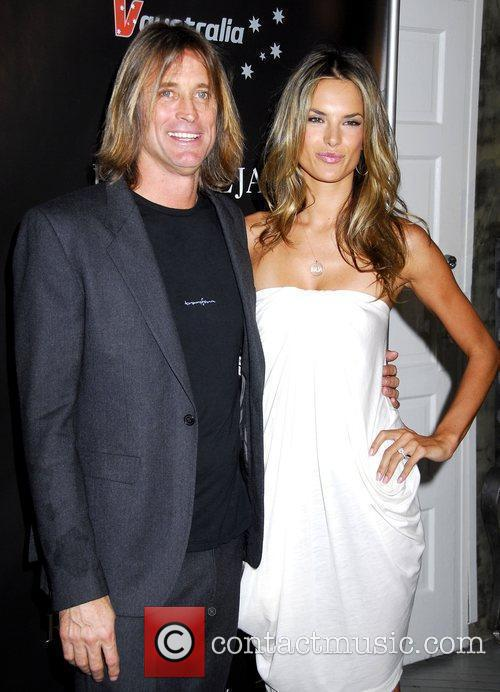 Russell James and Alessandra Ambrosio The launch of...