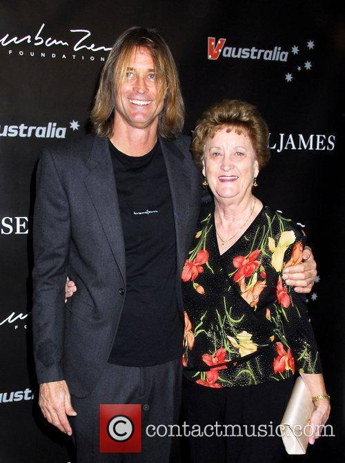 Russell James with his mother The launch of...