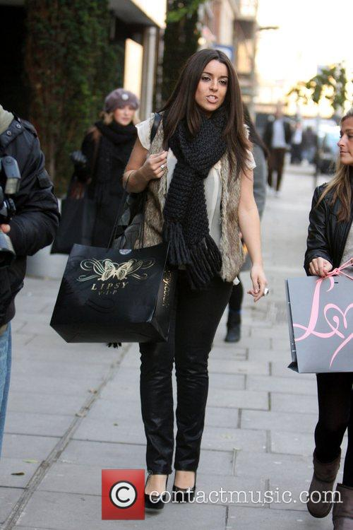 Recently eliminated X-Factor contestant Ruth Lorenzo seen shopping...