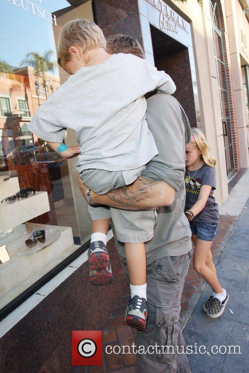Ryan Phillippe  takes son Deacon and daughter...