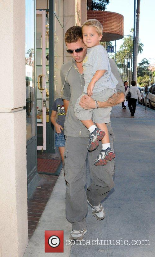 Ryan Phillippe takes son Deacon and daughter Ava...