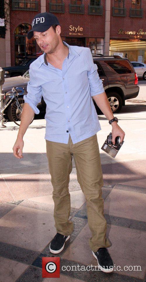 Ryan Seacrest spotted leaving Anastasia Beverly Hills Salon...