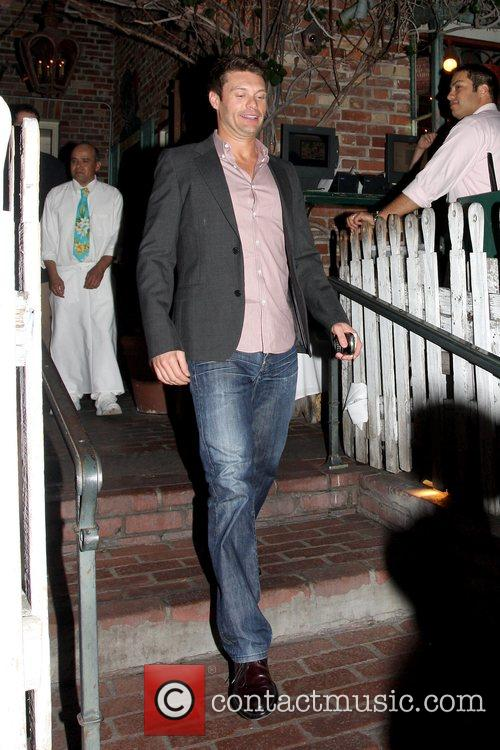 Ryan Seacrest  leaving The Ivy with friends...