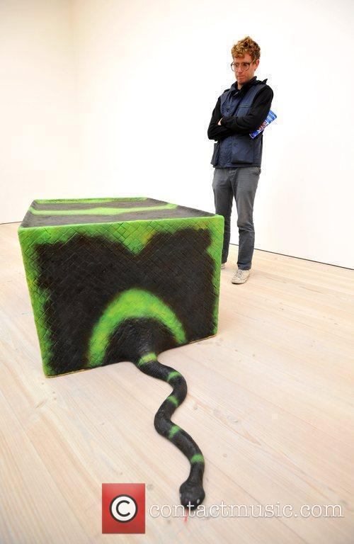 Stephen G. Rhodes with his work 'Ssspecific Object...