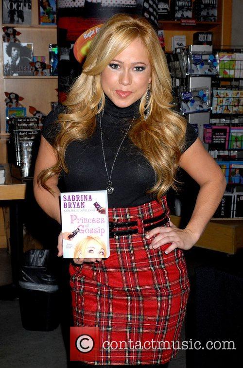 Sabrina Byran (from The Cheetah Girls) signs copies...