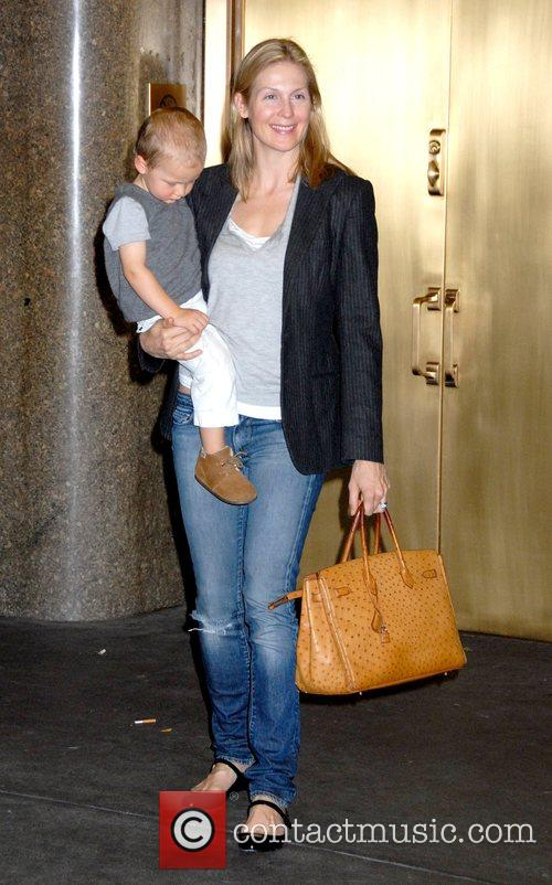 Hermes Gustaf Daniel Giersch and mother Kelly Rutherford...