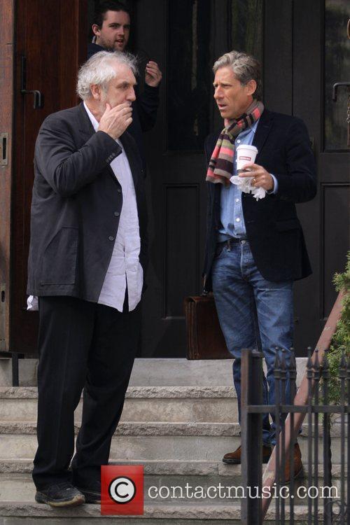 Australian film director Phillip Noyce (left) on the...