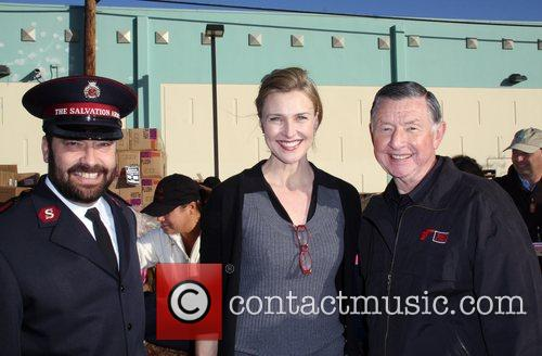 Brenda Strong with Larry Jones The Salvation Army...