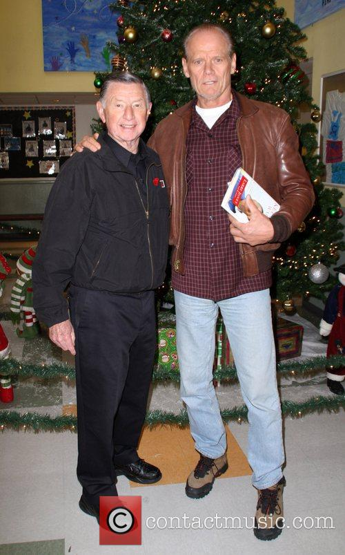 Fred Dyer with Larry Jones The Salvation Army...