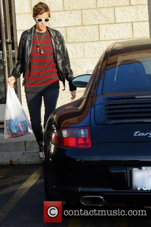 Samantha Ronson stops off at a store to...
