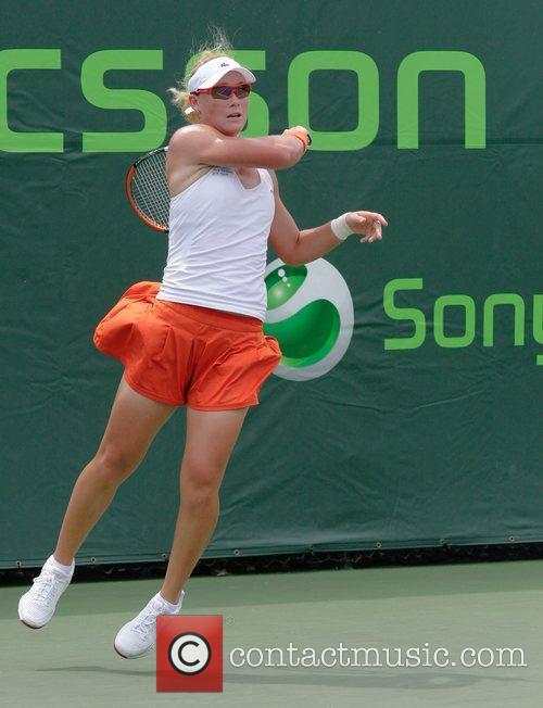 Samantha Stosur plays against Dinara Safina during day...