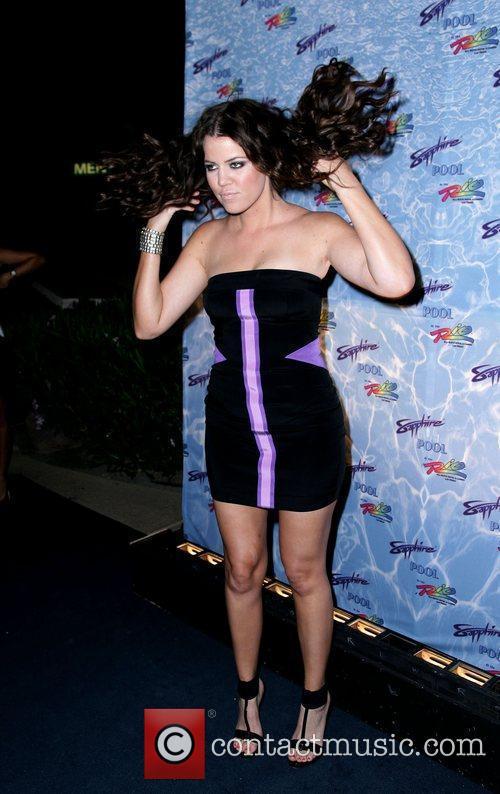 Khloe Kardashian Sapphire Pool grand opening party at...