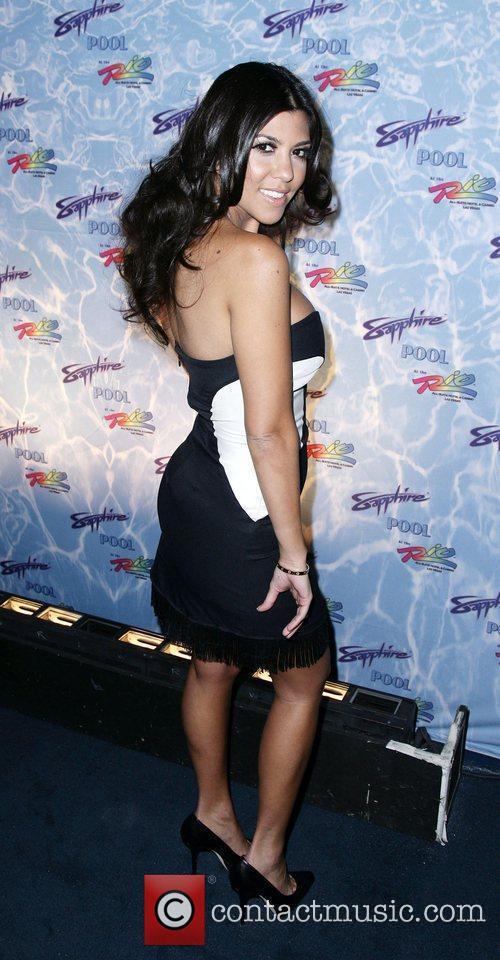 Kourtney Kardashian Sapphire Pool grand opening party at...