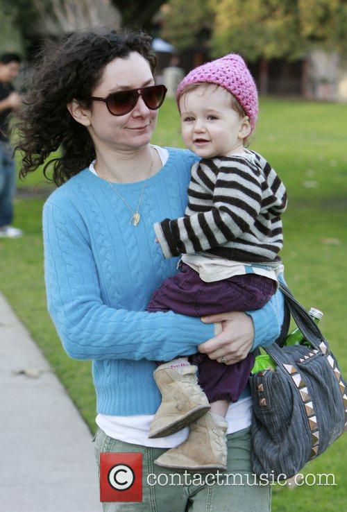 Sara Gilbert and daughter Sawyer enjoy a day...