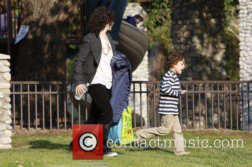 Sara Gilbert with her son Levi and her...