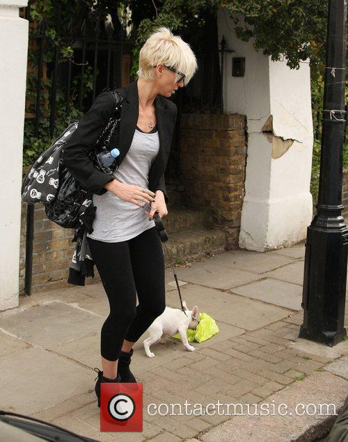 Leaving home with her dog Corker