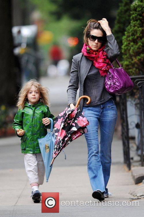 Sarah Jessica Parker walking her son James Wilkie...