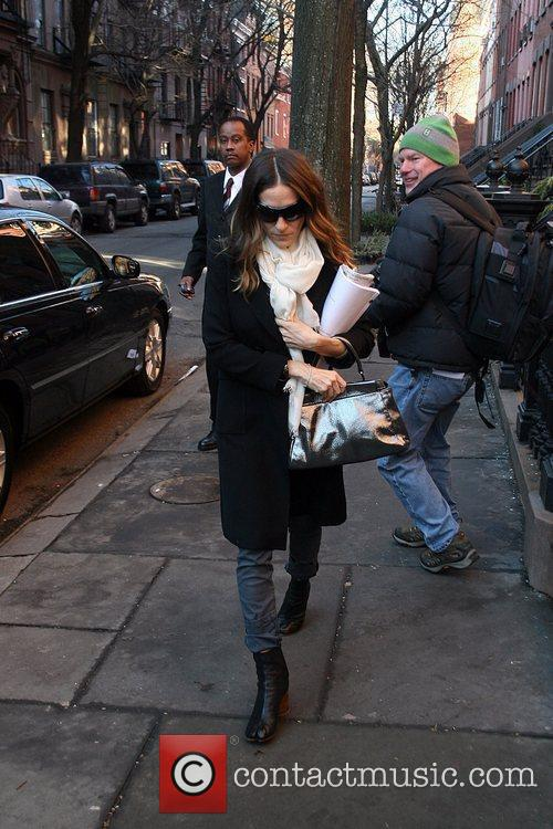 Sarah Jessica Parker seen leaving her home. New...