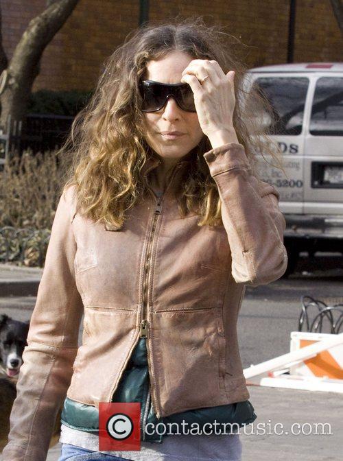 Sarah Jessica Parker walking through the West Village...